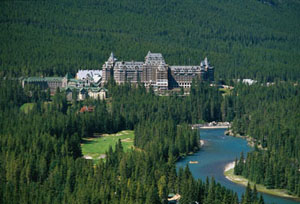The Fairmont at Banff Springs in the Canadian Rockies