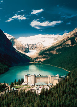 The Fairmont at Chateau Lake Louise in the Canadian Rockies