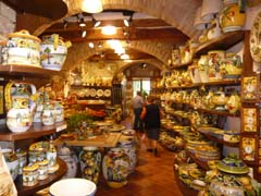 Ceramics shop in San Gimignano.